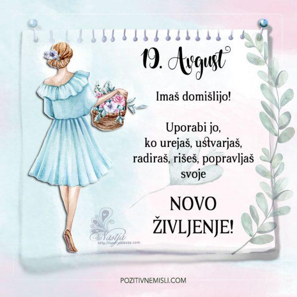 19. avgust - Pozitivčice - Misel dneva - Nastja Klevže