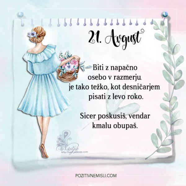 21. avgust - Pozitivčice - Misel dneva - Nastja Klevže