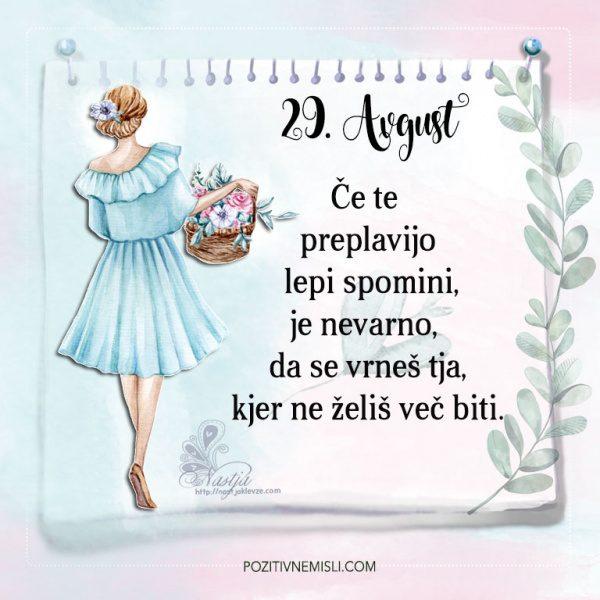 29. avgust - Pozitivčica - Misel dneva - Nastja