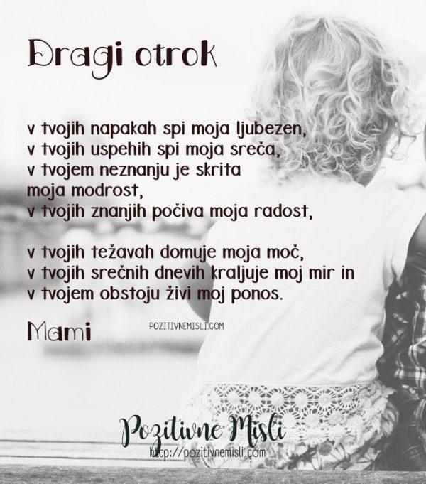 Dragi otrok - najlepše misli o otrocih in mami