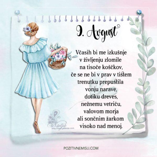 9. avgust - Pozitivčice - Misel dneva - Nastja Klevže
