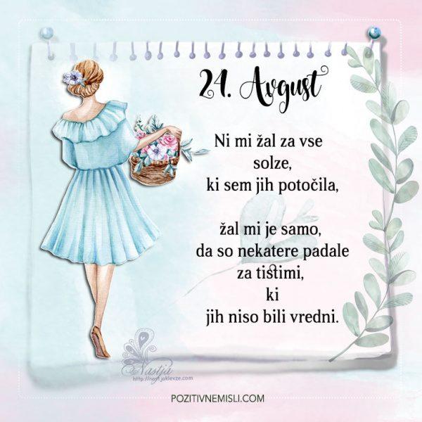24. avgust - Pozitivčice - Misel dneva - Nastja Klevže
