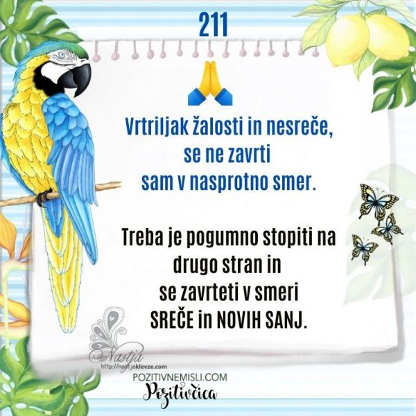 211 POZITIVČICA  - Vrtiljak žalosti in nesreče