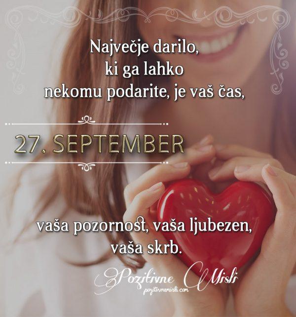 27. september - 365 misli koledar lepih misli o življenju