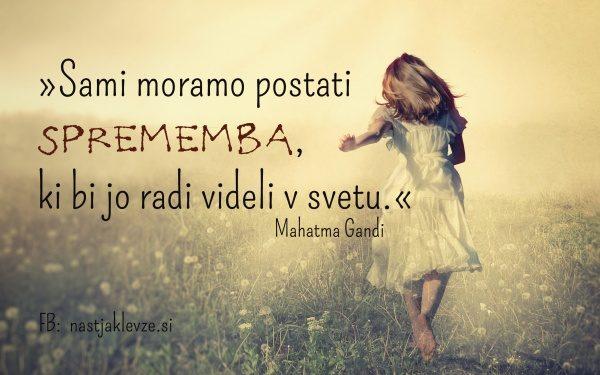 Mahatma Gandi citati - spremeba