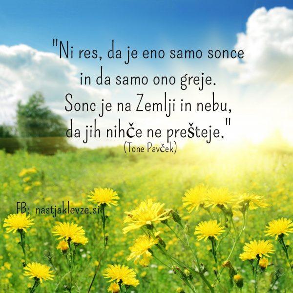 Tone Pavcek - sonce