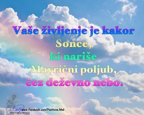 Mavrični Poljub - Pozitivne misli