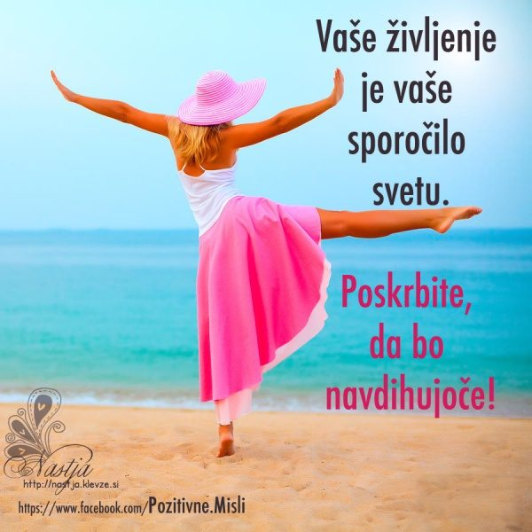 Vaše življenje- pozitivne misli 1