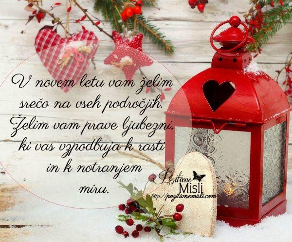 V novem letu vam želim srečo na vseh področjih. Želim vam prave ljubezni