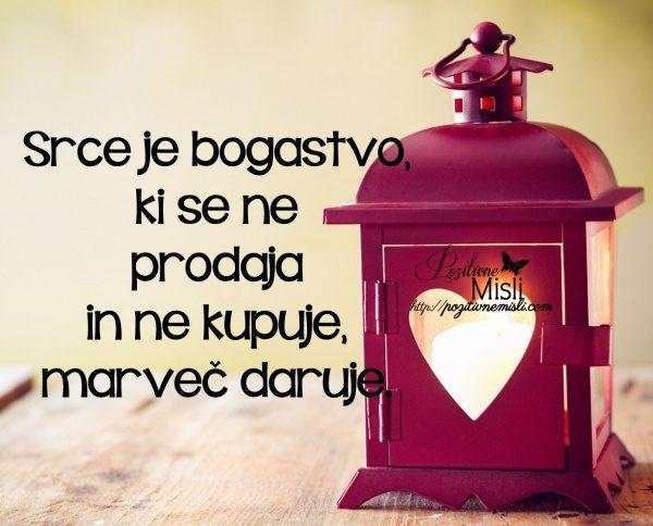 Srce je bogastvo, ki se ne prodaja in ne kupuje, marveč daruje 1