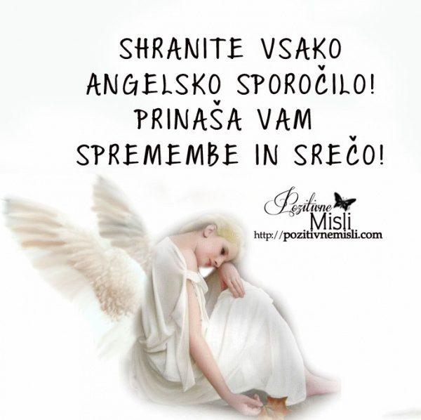Kaj mi sporoča Angel?