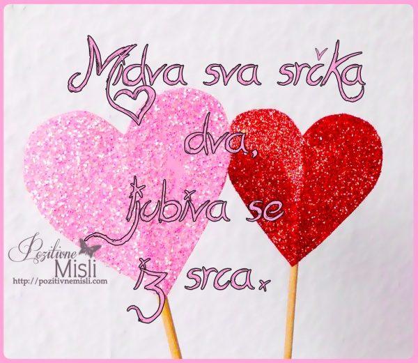 Valentinovo verzi - midva sva srčka dva ljubiva se iz srca
