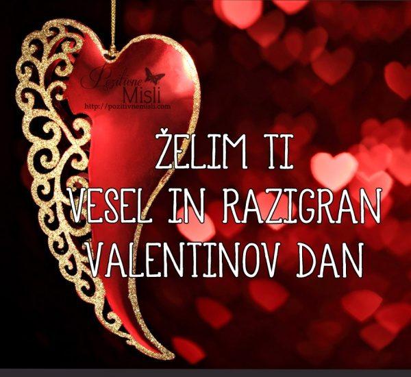 Želim ti vesel in razigran valentinov dan