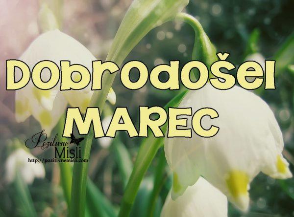 Marec - mesec pomladi -  dobrodošel