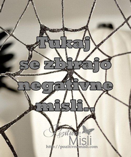 Pajčevina - nanjo se lepijo negativne misli