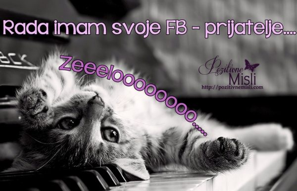 Rada imam svoje facebook prijatelje