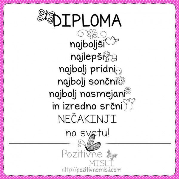 Diploma najboljši NEČAKINJI