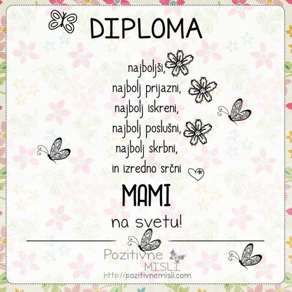 Diploma najboljši MAMI