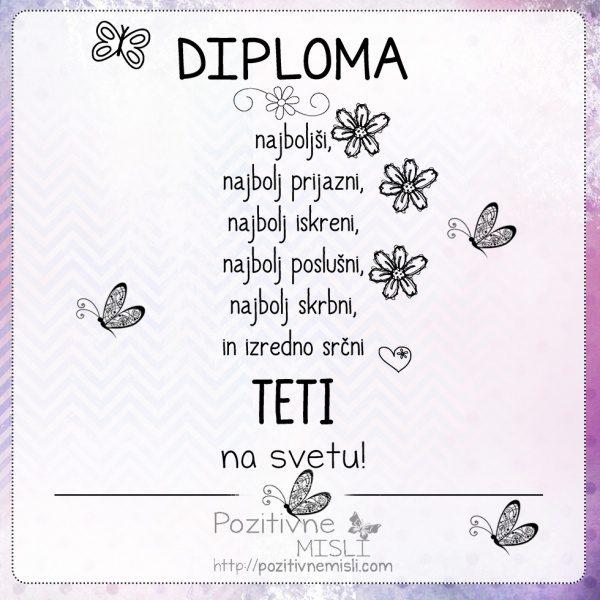 Diploma najboljši TETI
