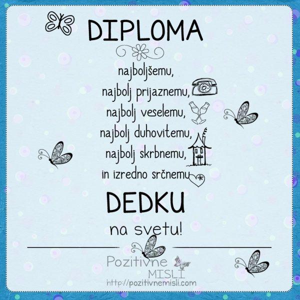 Diploma najboljšemu DEDKU