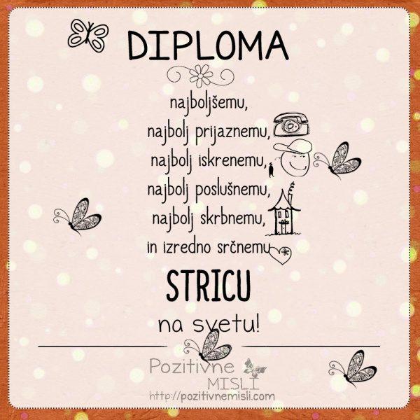 Diploma najboljšemu STRICU