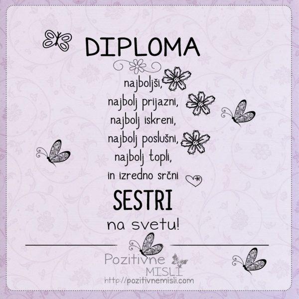 Diploma najboljši SESTRI