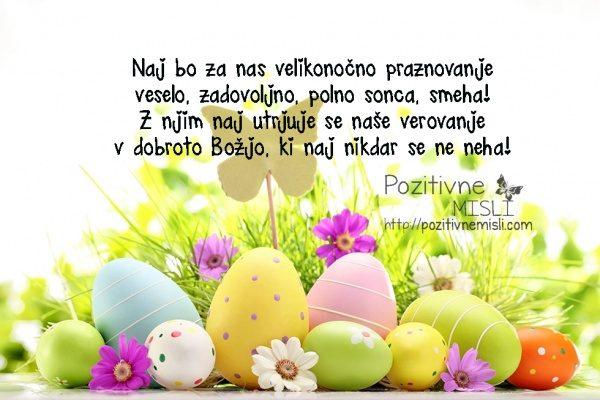 Naj bo za nas velikonočno praznovanje veselo, zadovoljno, polno sonca, smeha! Z