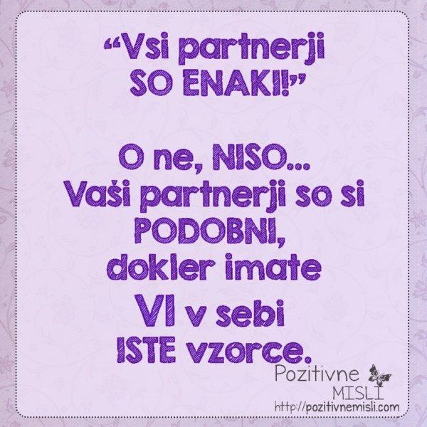 Vsi partnerji so enaki?