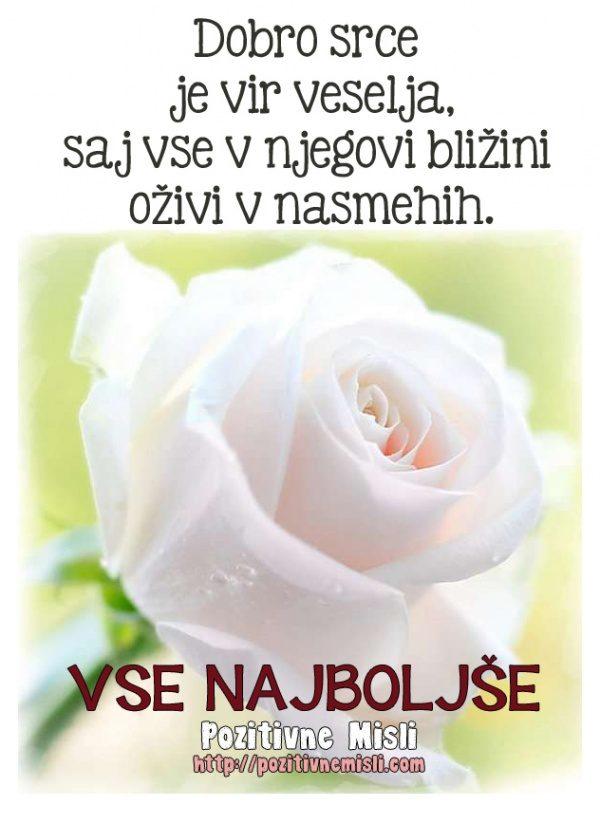 Dobro srce je vir veselja, saj vse v njegovi bližini....