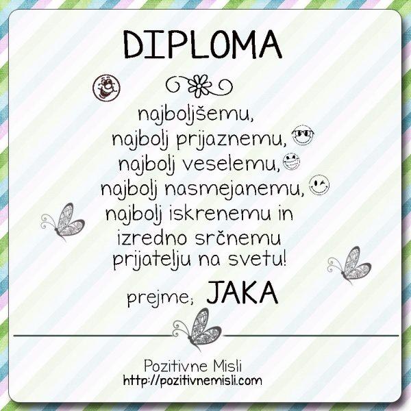 DIPLOMA prijatelj Jaka