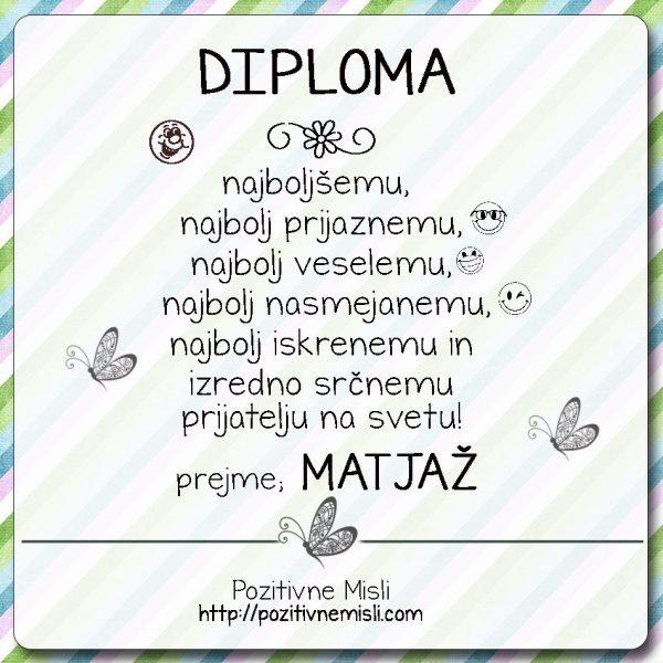 Diploma prijatelj Matjaž