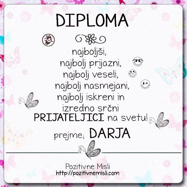 Diploma- prijateljica Darja