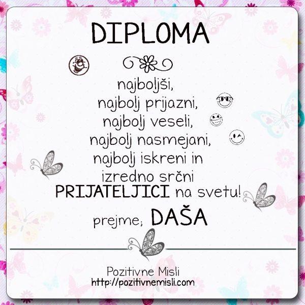 Daša - Diploma za prijatelja