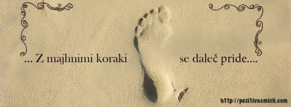 Misli o življenju - Z majhnimi koraki