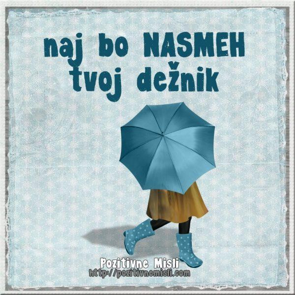 Naj bo NASMEHtvoj dežnik