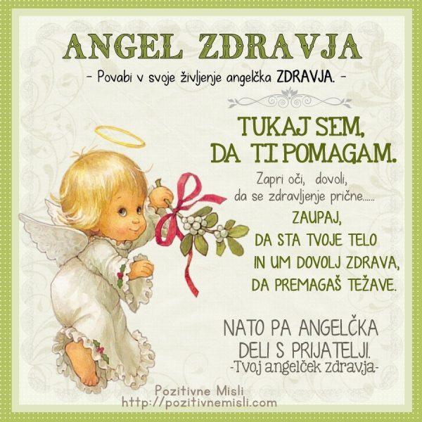 Angel zdravja - privabi v svoje življenje angelčka zdravja