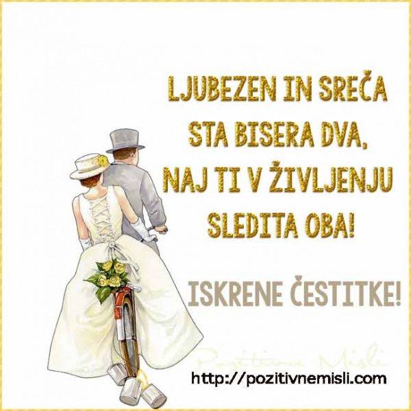 Ljubezen in sreča sta bisera dva, naj ti v življenju sledita oba!