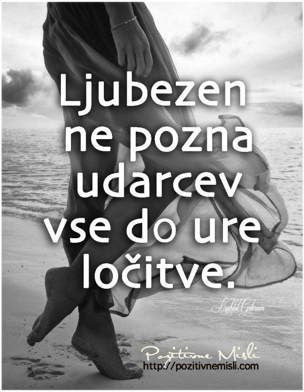 Ljubezen ne pozna udarcev vse do ure  ločitve ...
