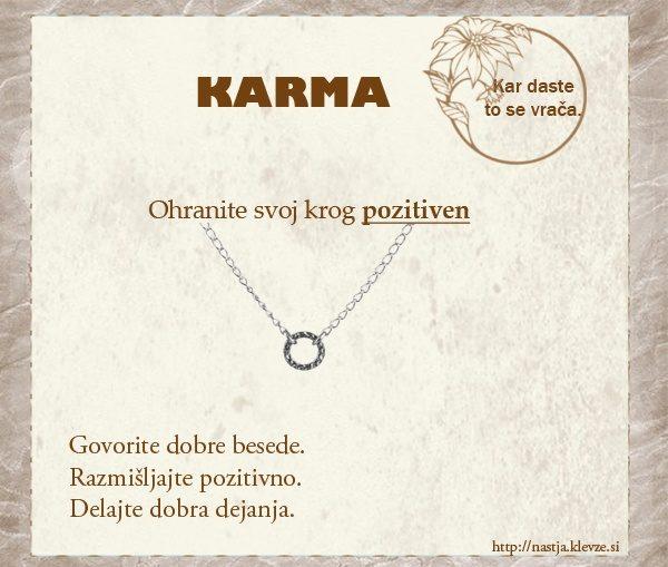Karma - pozitivne misli o karmi