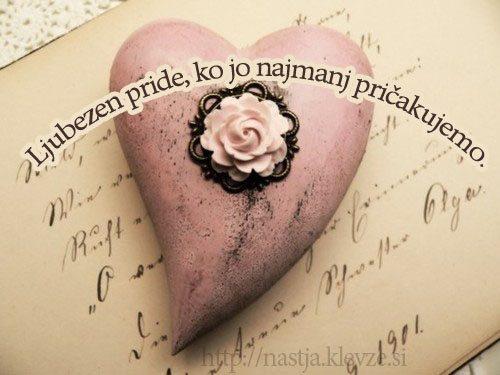 Ljubezen se zgodi takrat, ko je zanjo pravi čas