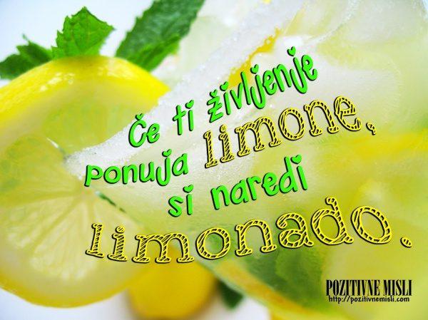 Če ti življenje ponudi limone ...