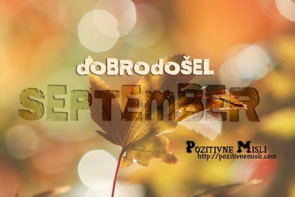 DOBRODOSEL SEPTEMBER 1