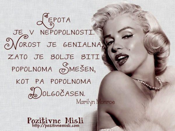 Marilyn Monroe - misli o lepoti