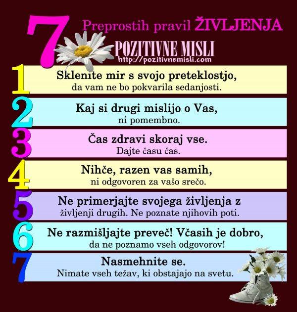 Misli o življenju - 7 Preprostih Pravil Življenja