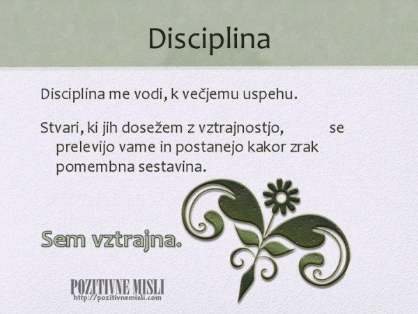 Disciplina - motivacija