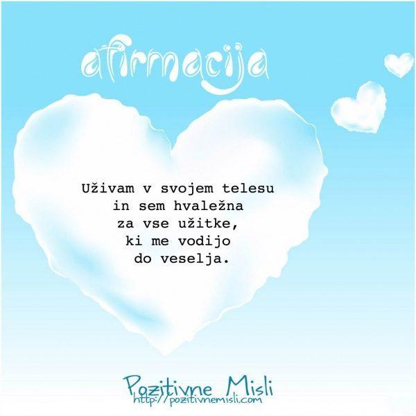 Afirmacija - ljubezen do sebe