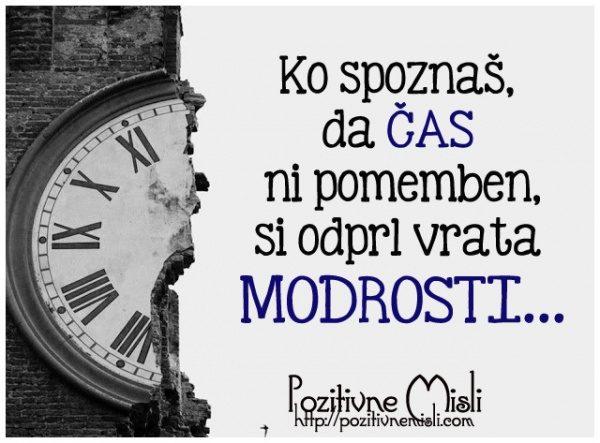 Ko spoznaš, da čas  ni pomemben