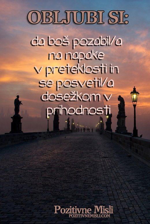 Obljubi si, da boš pozabila na napake