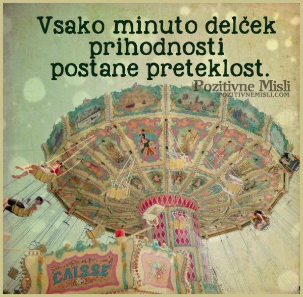 Vsako minuto delček prihodnosti postane preteklost