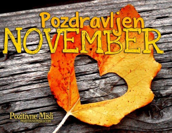 Dobrodosel november  - pozdravljen mesec movember